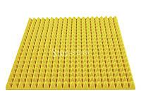Акустический поролон «Пирамида 70» 1*1 м. Желтый.