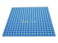 Акустический поролон «Пирамида 70» 1*1 м. Голубой.