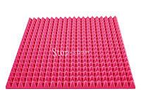 Акустический поролон «Пирамида 70» 1*1 м. Розовый