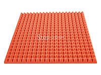 Акустический поролон «Пирамида 70» 1*1 м. Оранжевый.