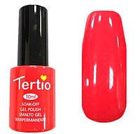Гель лак Tertio 070 (10 мл) ярко-коралловый, без блесток и перламутра, плотный.