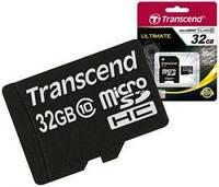 Карта памяти transcend microsd 32 Гб класс 10 + sd адаптер (ts32gusdhc10)