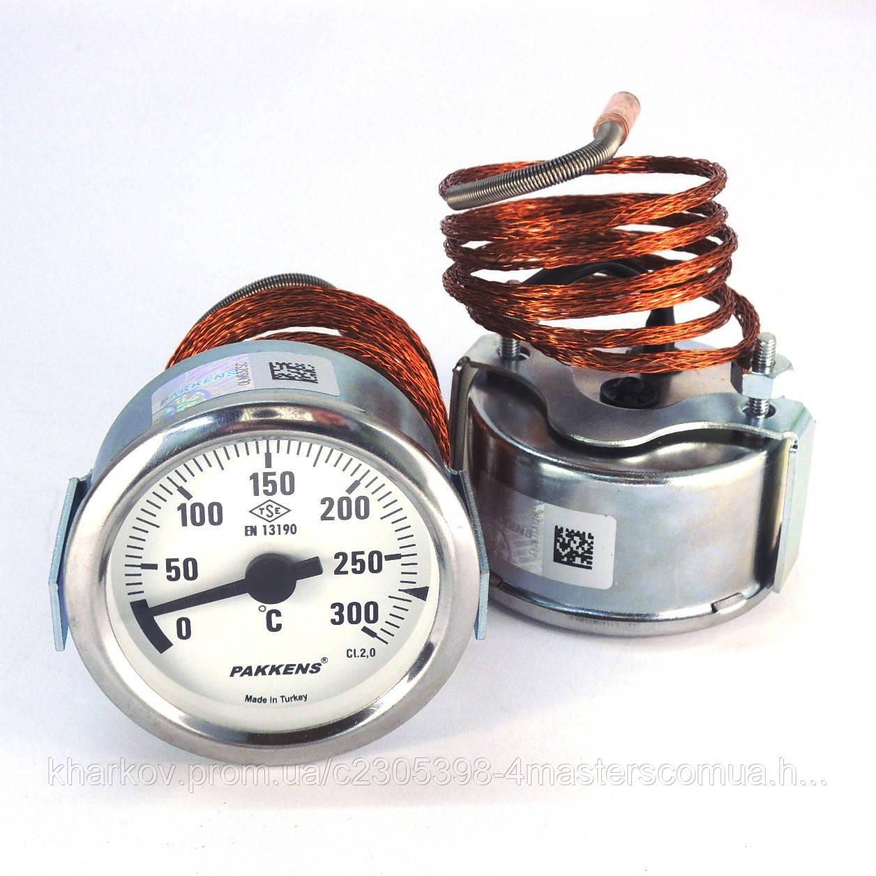 Термометр 0 300°С с выносным датчиком 1 м Ø60, Pakkens Турция