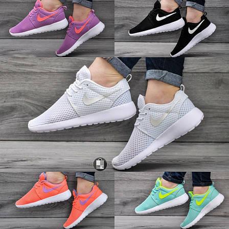 Женские кроссовки Nike Roshe Run 5 цветов (Реплика AAA+), фото 2