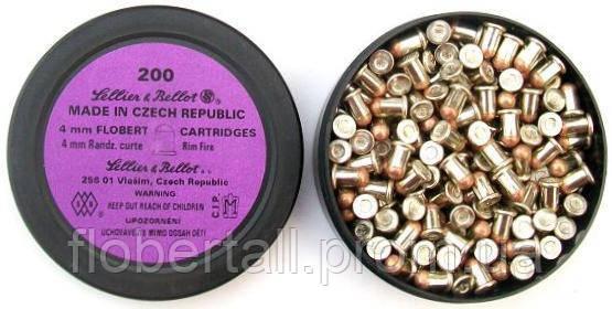Патроны flobert Sellier & Bellot (4mm)  200 шт. - продажа в розницу и оптом револьверов Flobert, пневматического, шумового и коллекционного оружия в Кропивницком