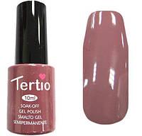 Гель лак Tertio 072 (10 мл) темный, коричнево-розовый, холодный оттенок, без блесток и перламутра, плотный.