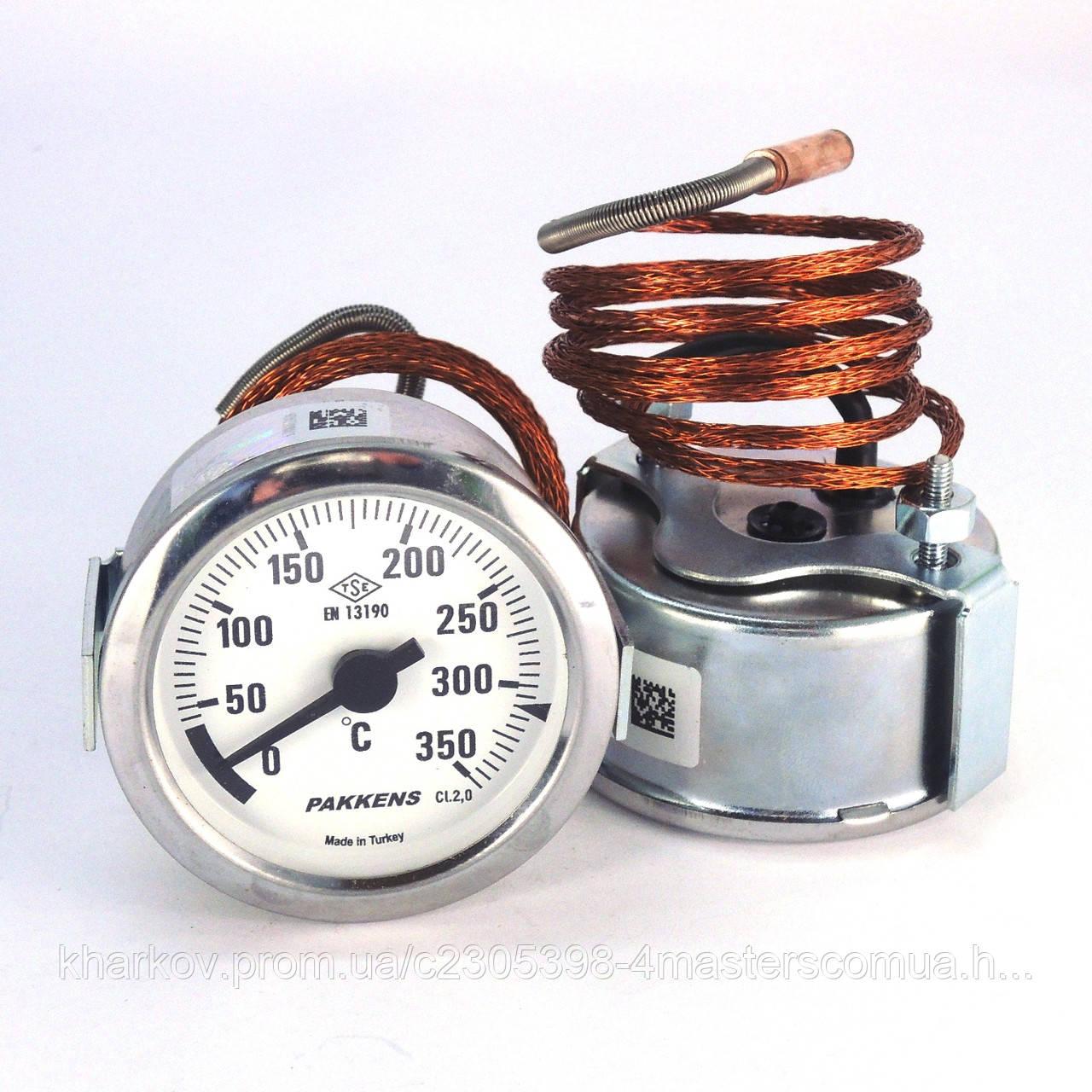 Термометр 0 350°С с выносным датчиком 1 м Ø60, Pakkens Турция