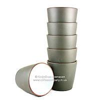 Пиала чайная исинская глина/фарфор 6х100мл 9279
