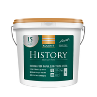 Краска латексная с высокой стойкостью к мытью  History (Интериор Премиум Колорит) 4,5л