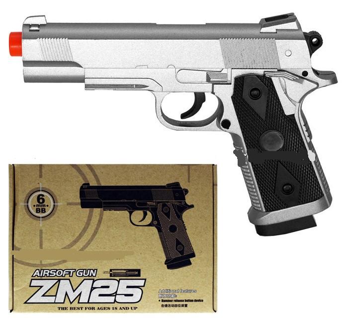Дитячий іграшковий пістолет CYMA ZM25 металевий з кульками