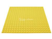 Акустический поролон «Пирамида 20» 1*1 м. Желтый.