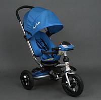 Детский трёхколёсный велосипед Best Trike с игровой панелью, голубой