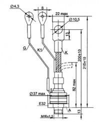 Тиристор ТБ261-160-9