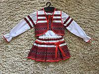 Вышитый костюм-платье для девочки