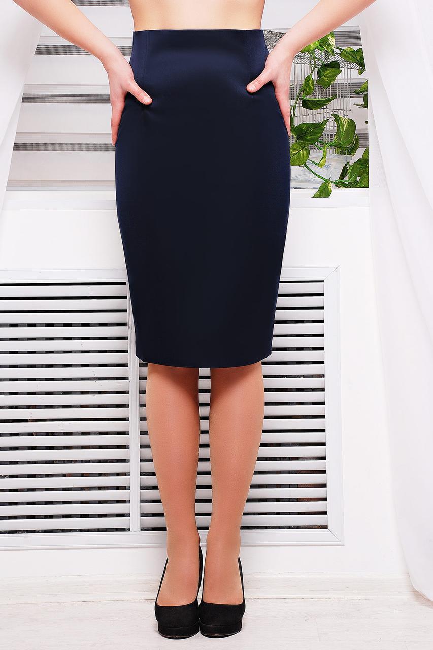 6a164a7bb3fe Темно-синяя классическая юбка карандаш купить в интернет магазине | Цена |  Киев, ...