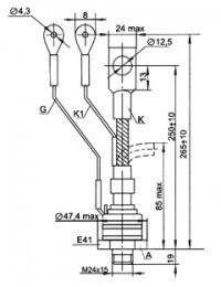 Тиристор ТБ371-250-12-632