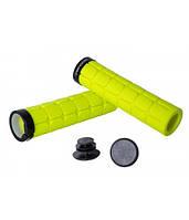 Грипсы Green Cycle GC-G219 130mm вспененная резина, с одним замком желтые