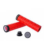 Грипсы Green Cycle GC-G219 130mm вспененная резина, с одним замком красные