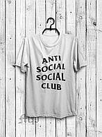 Стильная мужская футболка Anti Social Social Club белая