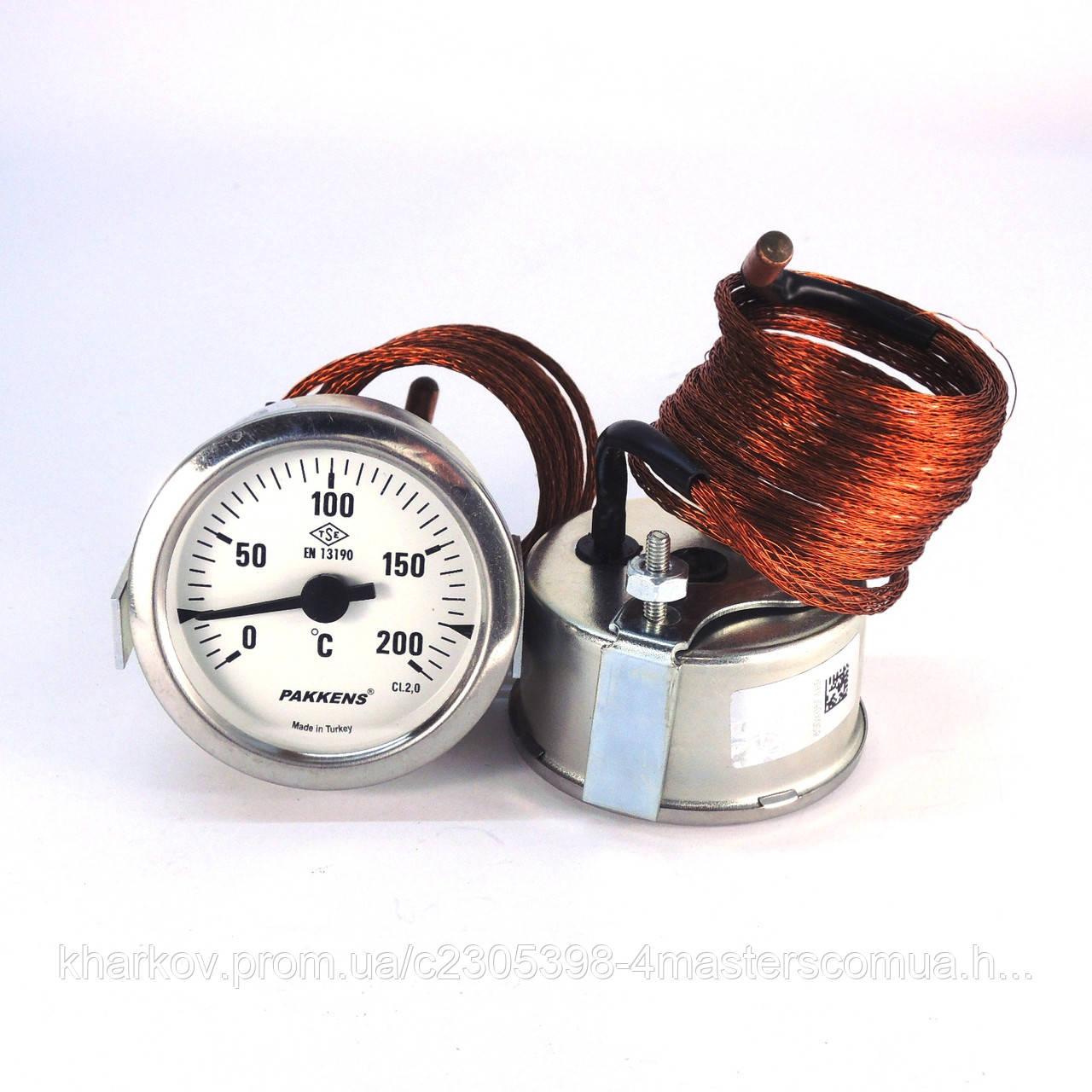 Термометр 0 200°С с выносным датчиком 2 м Ø60, Pakkens Турция
