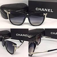 """Очки бабочки серебро """"Chanel"""""""