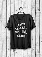 Стильная мужская футболка Anti Social Social Club черная