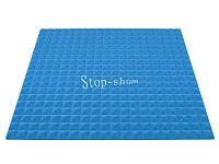 Акустический поролон «Пирамида 20» 1*1 м. Голубой.