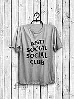 Стильная мужская футболка Anti Social Social Club серая