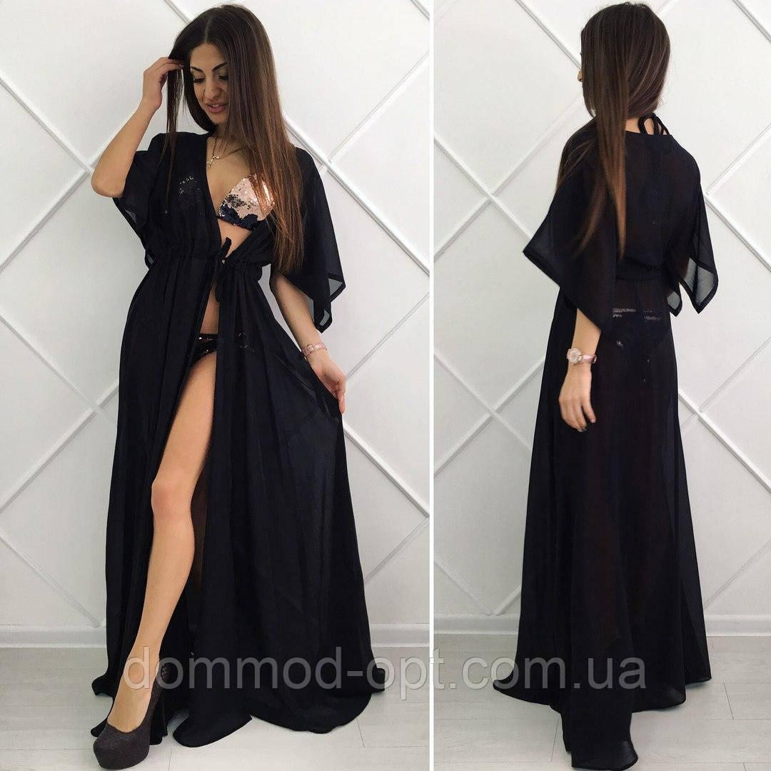 9fbd6ca41d3 Женская пляжная туника модель  8   черная - Дом Мод в Одессе