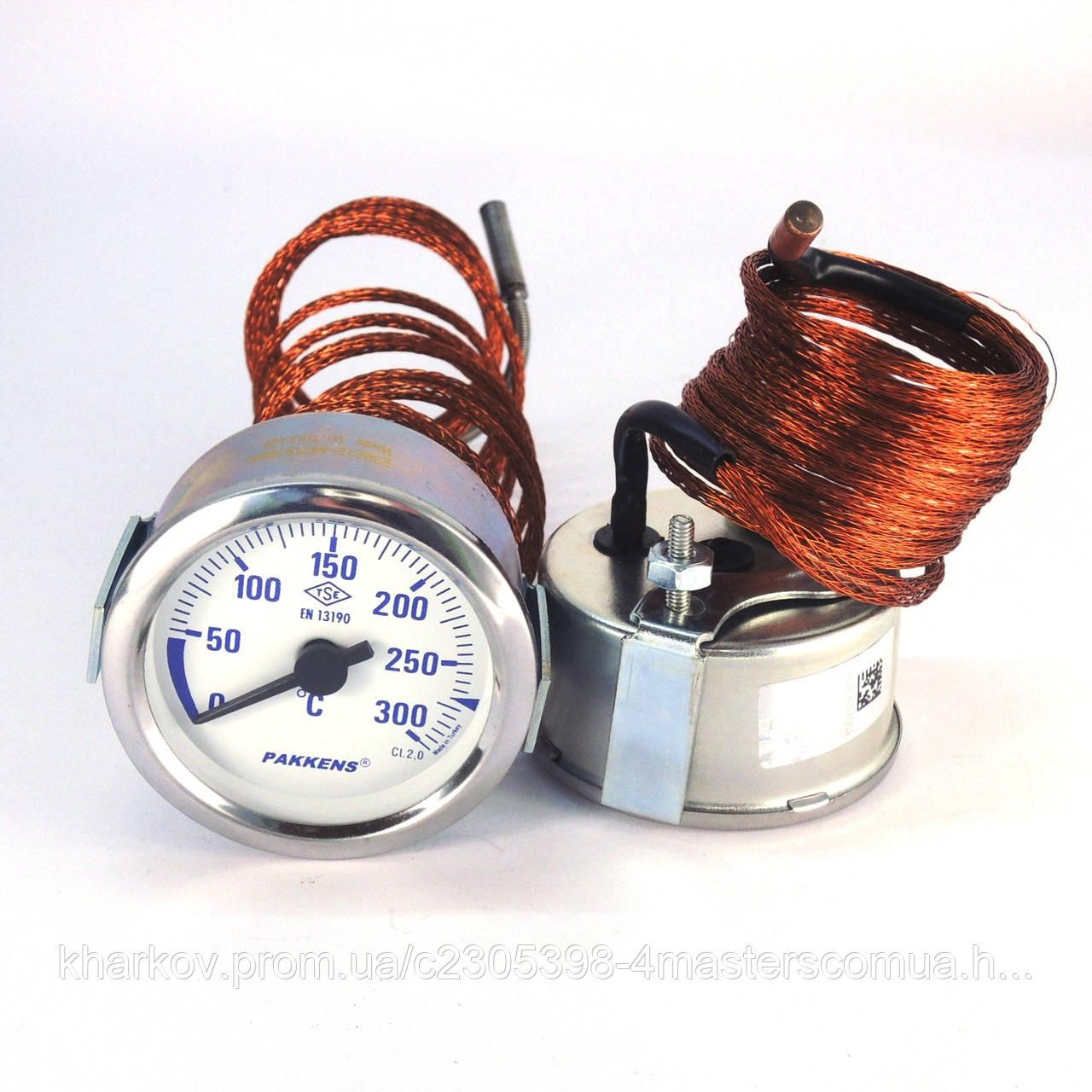 Термометр 0 300°С с выносным датчиком 2 м Ø60, Pakkens Турция