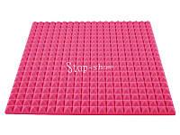 Акустический поролон «Пирамида 50» 1*1 м. Розовый