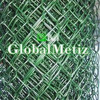 Сетка рабица в полимере (пвх) д 2,5 мм 55х1 м
