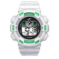 Спортивные часы с секундомером, будильником и красивой неоновой подсветкой (∅45 мм) NT-Ranger white