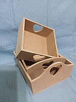 Короб - конфетница ( сердце,малое)Заготовка для декупажа и росписи.