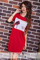 Женское платье-туника, материал вискоза с фотопринтом. Разные цвета, размеры. Розница, опт в Украине.