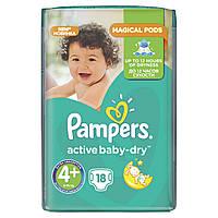 Подгузники Pampers Active Baby-Dry Размер 4+ (Maxi+) 9-16 кг, 18шт