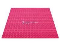 Акустический поролон «Пирамида 20» 1*1 м. Розовый