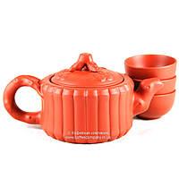Чайник китайский заварочный исинская глина 145мл+3 пиалы 9288