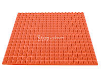 Акустический поролон «Пирамида 50» 1*1 м. Оранжевый.