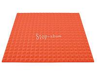Акустический поролон «Пирамида 20» 1*1 м. Оранжевый.