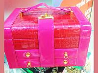 Кейс, саквояж, шкатулка , органайзер для косметики, косметичка-переноска