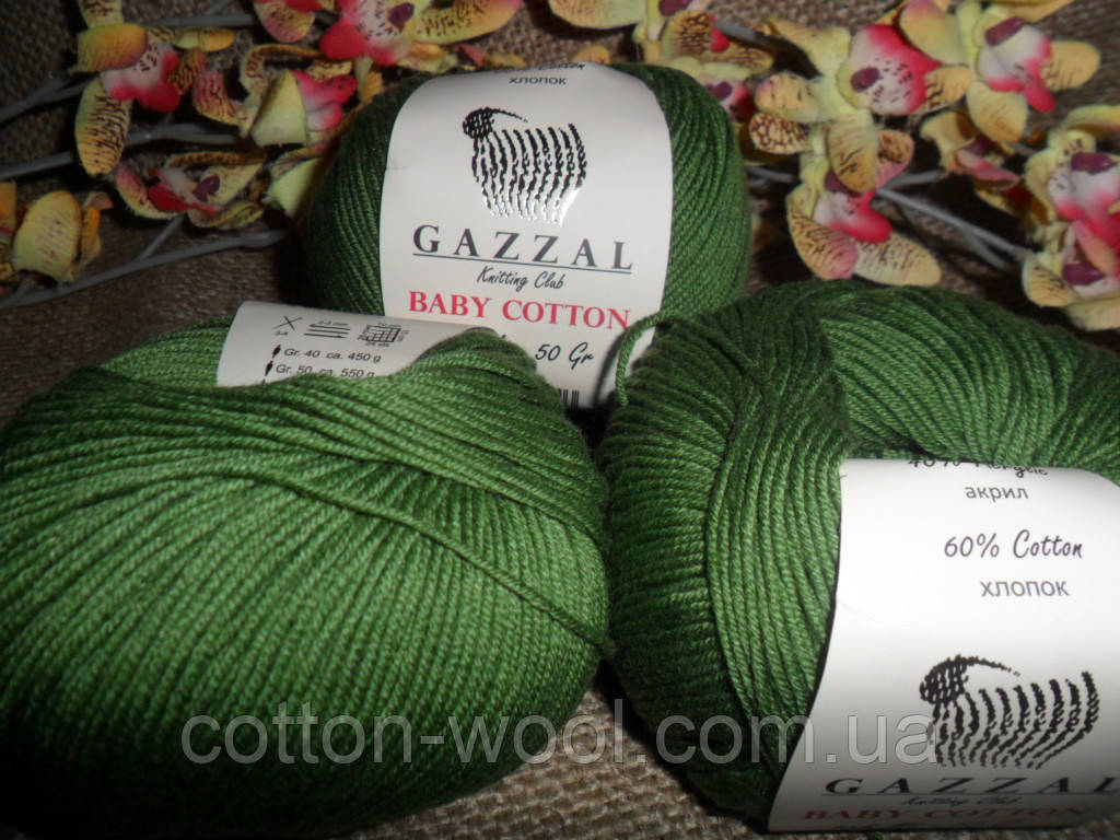 GAZZAL Baby Cotton(Беби Коттон) 3449 зеленый