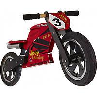 """Беговел 12"""" Kiddy Moto Heroes деревянный, с автографом Joey Dunlop TT"""