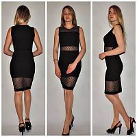 Приталенное платье с сеткой в расцветках i-24032085