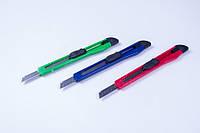 Нож канцелярский (малый-9 mm) упаковка микс цветов/ 24 шт, №TZ-804, ножи канцелярские