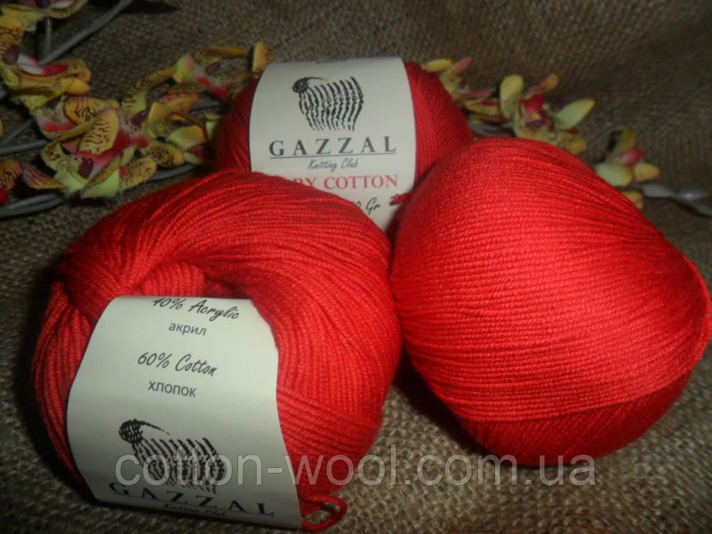 GAZZAL Baby Cotton(Беби Коттон)  красный 3443 красный