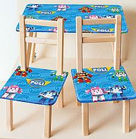 Детский столик со стульчиками  Robocar POLI 080