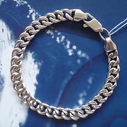 Серебряный мужской браслет, 210мм, 32 грамма, плетение Панцирь, фото 2