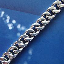 Серебряный мужской браслет, 210мм, 32 грамма, плетение Панцирь, фото 3