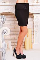 Черная юбка на кокетке